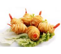 D8. Rouleaux de crevettes  (6 pièces)